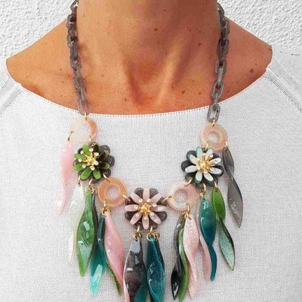 Halskette grün-rosa, seniera.design