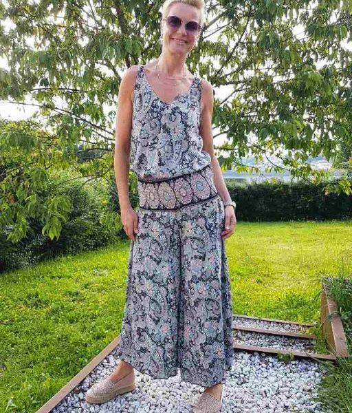 Outfit Seniera.design: Shirt, Hosenrock, Espadrilles